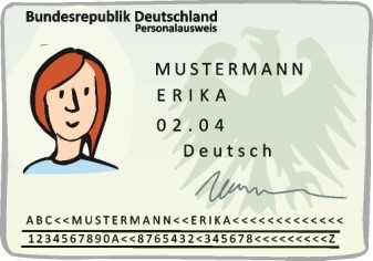 Beispielbild: Personalausweis