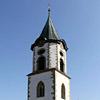 Blick auf den Kirchturm der Martinskirche