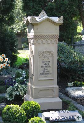 Historisches Grabdenkmal neu hergestellt