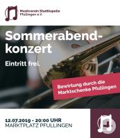 Sommerabendkonzert des Musikverein Pfullingen