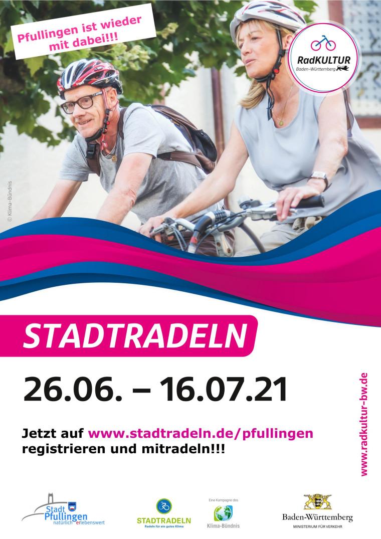 Plakat Stadtradeln Pfullingen 2021