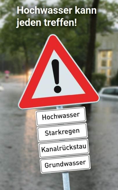 Deckblatt: Hochwasser-Flyer
