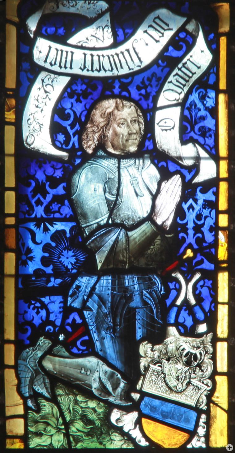 Kaspar Remp, † 1498, letzter bedeutender Vertreter des Pfullinger Ortsadels, auf einem Stifterbild im Chor der Tübinger Stiftskirche (Foto: Steffen Burgemeister)