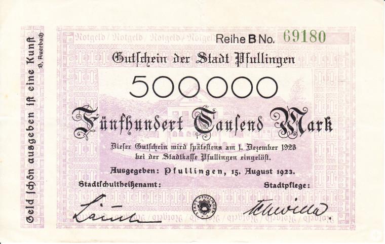 Notgeldschein (StAPf, Sammlung Zahlungsmittel)